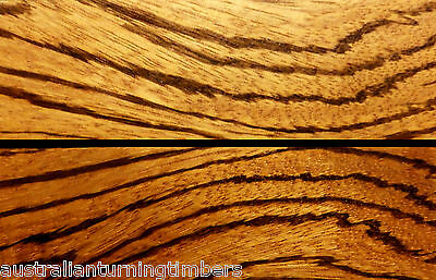 Backsawn African Zebrano Wood Knife Scales (Bookmatched)