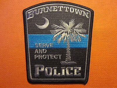 Collectible South Carolina Police patch Burnettown Subdued New