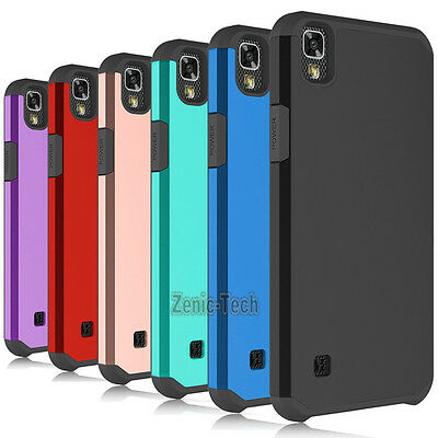 For LG X Power / LS755 Case Shockproof Armor Hybrid PC Silicone Hard Phone Cover