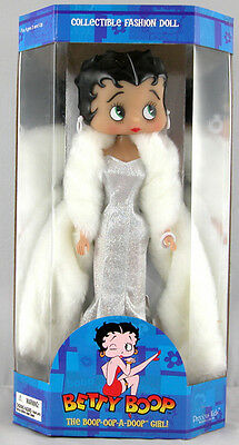 "BETTY BOOP Cartoon Character DIVA with White Gown FASHION DOLL FIGURE 12"" New"