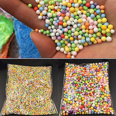 Wholelsale Assorted Colors Polystyrene Styrofoam Filler Foam Beads Balls CraftsS