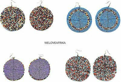 African Tanzania Masai Ethnic Beads Earrings, Handmade Mother's Day Unique Gifts