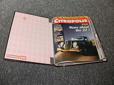 Citropolis  Citroen Magazines  8 In Total With Binder  Free Uk Post And Packing