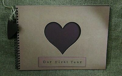 Our first year anniversary scrapbook A4 rustic Photo Album memory book