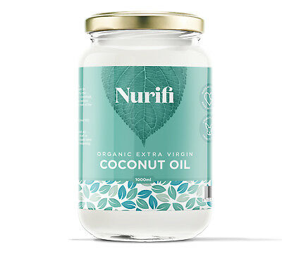 Organic Extra Virgin Coconut Oil - 100g 200g 500g 1KG - Cold Pressed & Unrefined