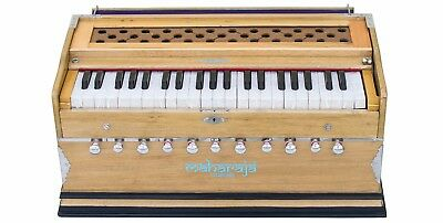 HARMONIUM No.5600n|MAHARAJA|A440|PRO|11 STOP|COUPLER|42KEYS|NATURAL|BOOK|AAE