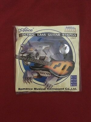 All 4 Electric Bass Guitar Strings
