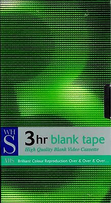 Blank VHS Video Tape - W H Smith - 3/6 Hour - New/Sealed