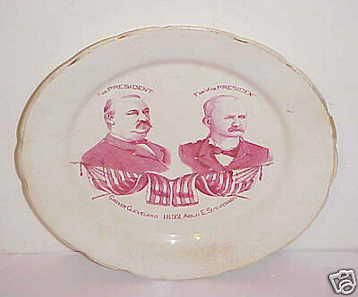 1892 Political Plate Grover Cleveland For President & Adlai Stevenson  For V.p.