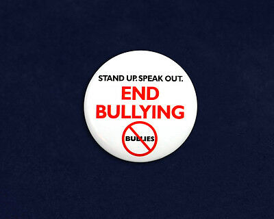 Lot of 25 Round Stand Up Speak Out End Bullying Pins