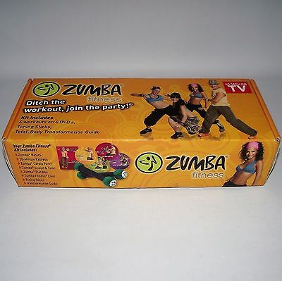Zumba Fitness Toning Sticks + 2 Dvds & Guide Book Exercise Dance Workout Boxed