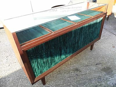 Vintage glass top Shop counter / Jewellers cabinet  with storage ( C )