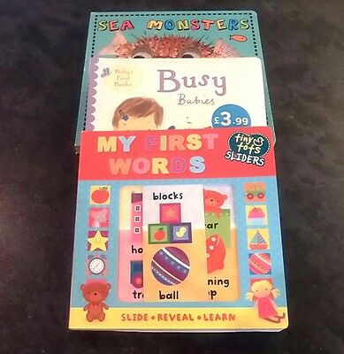 3 x new baby board books - total RRP value £23.97 - bargain at £6.00 free p&p
