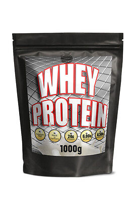 (32,99 Eur/kg) WHEY Protein 1 kg 1000g MOLKEPROTEIN Vanille made in Germany