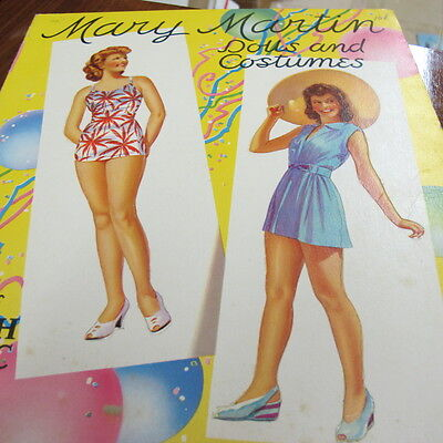 Original Mary Martin uncut paper dolls and outfits1942