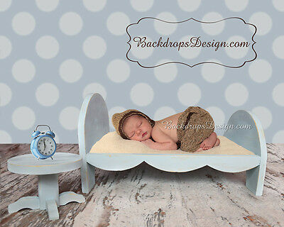 Newborn  bed photo prop baby photography log wood bed hand made vintage style