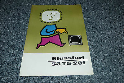 Alter TV Strassfurt 53 TG 201 Prospekt VEB/DDR