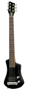 Hofner Shorty Travel Electric Guitar - Black HCT-SH-BK