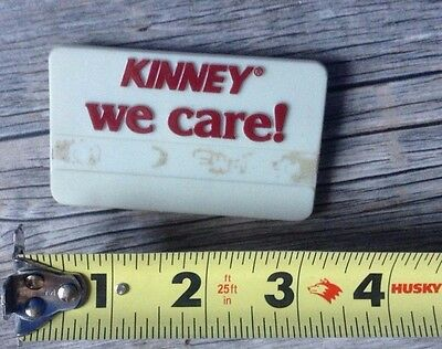 Vintage Kinney Shoe Store Plastic Employee Name Tag  We Care!