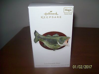 Largemouth Bass/Peppermint Bark Magic Hallmark Keepsake ornaments