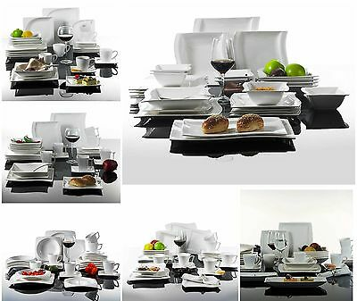 12/26/30/32pc Complete Dinner Set Plates Bowls Cup Tableware Kitchen Service Set