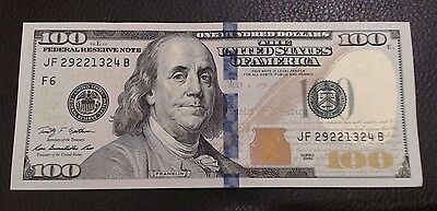 $100 Dollar Bill 1 New Uncirculated From BEP Bank Straps ~ $100 dollar Bills