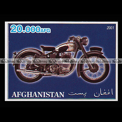 ★ ROYAL ENFIELD 500 BULLET VINTAGE ★ AFGHANISTAN Timbre Moto Motorcycle #238