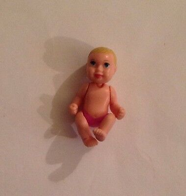 Barbie Doll- Happy Family Midge Baby 2002 . Blonde With Pink Diaper . Nice !