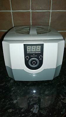 Ultrasonic Cleaner Ultra Sonic Bath Tank Timer - Jewellery Metal Cleaning 1.3L