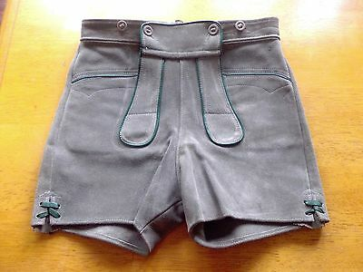 VINTAGE 1960's LEDERHOSEN SHORTS - GENUINE SUEDE - Great condition