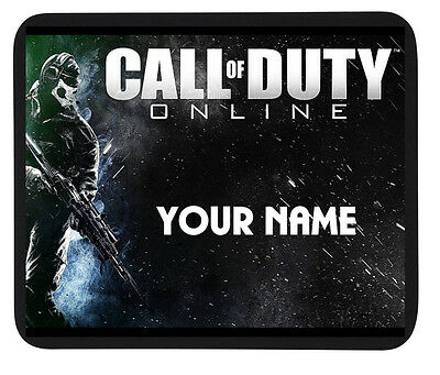 """PERSONALISED CUSTOM NAME """"CALL OF DUTY ONLINE"""" MOUSE MAT / PAD - PC/Laptop"""