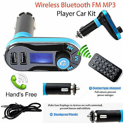 Bluetooth Car Kit FM Transmitter MP3 Player SD USB Charger For iPhone 7 Samsung