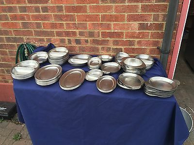 Stainless Steel Pieces trays/platters x 110