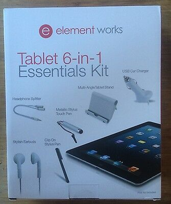 Element Works Tablet 6-in-1 Essentials Kit. BNIB. Security Seals Intact.