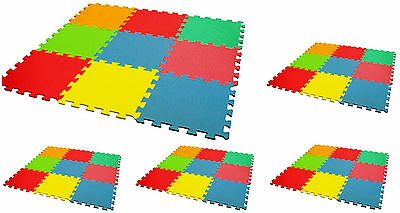 9pc Interlocking Eva Mat Foam Kids Play Mat Flooring Tiles Puzzle Jigsaw Cushion