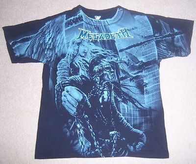 Very RARE Authentic/Licensed VINTAGE MEGADETH Concert/Tour Shirt M/Medium l