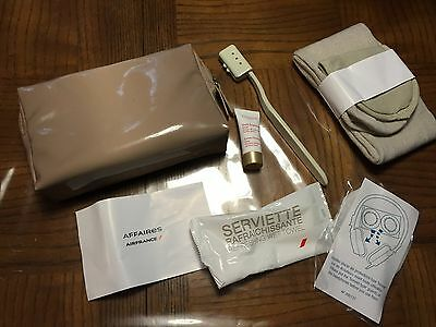 Air France Business Class Airline Amenity Kit With Beige