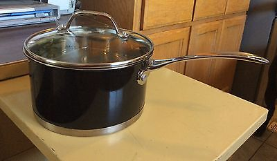 David Burke Gourmet PRO Stainless Steel 2 1/2 quart Sauce Pan & glass Lid