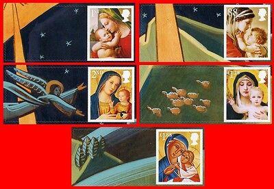 2013 LS88 Christmas Single stamps 1st, 2nd, 87p, £1.28 & £1.88