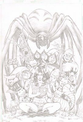 Grimm Fairy Tales #37 Pencil Cover - Fantasy Creatures 2008 art by Diego Bernard