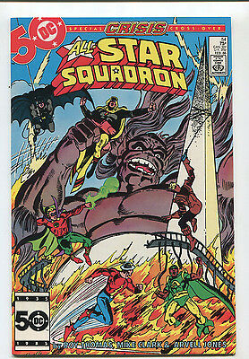 All Star Squadron #54 NM Special CRISIS Cross Over    DC Comics CBX6B