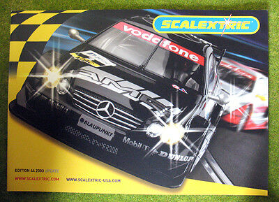 SCALEXTRIC 2003 ~ 44th Edition UPDATE Catalogue ~ NEW