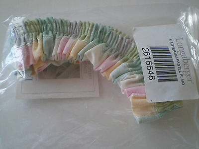 Longaberger Small Garter Pastel Plaid - 2616648 - New in package