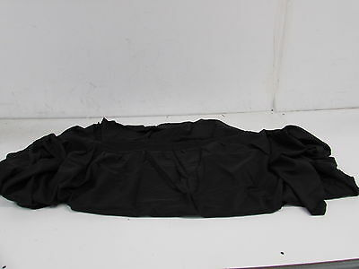 Urby 5 ft Fitted Table Skirt Cover Wedding Banquet Tablecloth Black