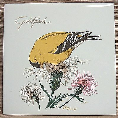 GOLDFINCH & THISTLE by P Howard CERAMIC TILE - Screencraft on Cape Cod