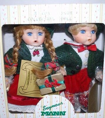Seymour Mann Christmas Holiday Dolls Porcelain Doll Xmas Decorations