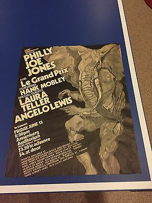 Vintage Philly Joe Jones Le Grand Prix Hank Mobley Poster Annenberg Univ Penn