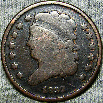 1832 Classic Head Half Cent -- TYPE COIN -- #M885