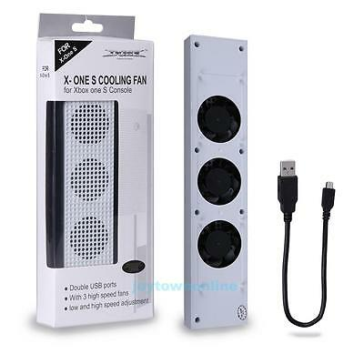 High Speed 3 Fans Cooler Cooling Fan w/ 2 USB Port for Xbox one S (slim) Console