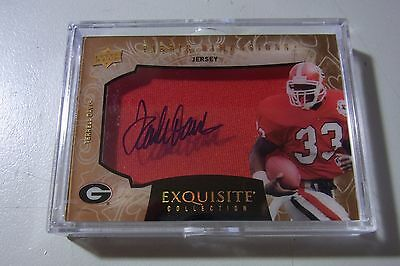 2014 UD Exquisite Fabric Dimensions On Card Auto Shadowbox Terrell Davis Packer